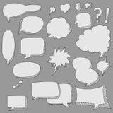 Burbuja linda del discurso del doodle Imagen de archivo