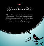 Burbuja negra del texto del pájaro stock de ilustración