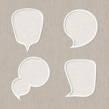 Burbuja para el sistema del discurso, estilo de madera Imágenes de archivo libres de regalías