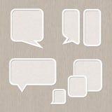 Burbuja para el sistema del discurso, estilo de madera Foto de archivo libre de regalías