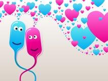 Burbuja-pistas en amor Imágenes de archivo libres de regalías