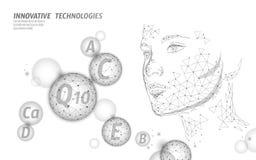 Burbuja polivinílica baja compleja de la esfera de la vitamina sana de la piel Bandera antienvejecedora de los cosméticos de la b stock de ilustración