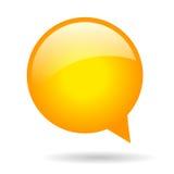 Burbuja redonda anaranjada del discurso Foto de archivo libre de regalías