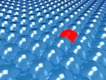 Burbuja roja Foto de archivo libre de regalías