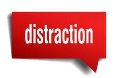 Burbuja roja del discurso 3d de la distracción ilustración del vector