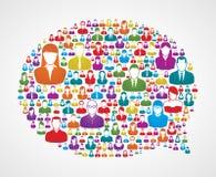 Burbuja social del discurso de los media Fotografía de archivo libre de regalías