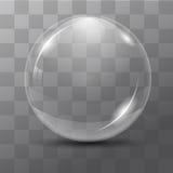 Burbuja transparente blanca Foto de archivo libre de regalías