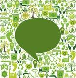 Burbuja verde del discurso Imagen de archivo libre de regalías