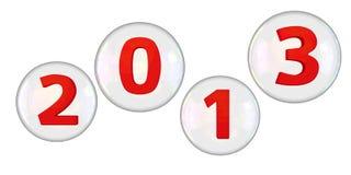Burbujas 2013 Imágenes de archivo libres de regalías