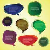 Burbujas abstractas coloridas del discurso Imagen de archivo libre de regalías