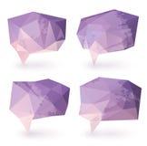 Burbujas abstractas del discurso del triángulo Fotografía de archivo