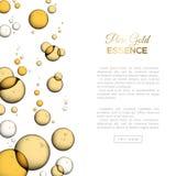 Burbujas aisladas en blanco, emulsión del aceite del colágeno stock de ilustración