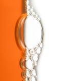 Burbujas anaranjadas verticales Imagen de archivo libre de regalías