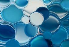 Burbujas azules Fotografía de archivo libre de regalías