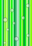 Burbujas bajo verde Fotografía de archivo libre de regalías