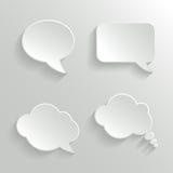 Burbujas blancas abstractas del discurso fijadas stock de ilustración