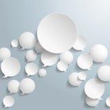 Burbujas blancas del discurso con el círculo grande Fotografía de archivo libre de regalías