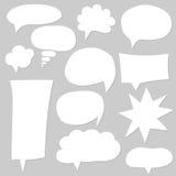 Burbujas blancas vacías en blanco del discurso Imagen de archivo libre de regalías