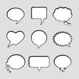 Burbujas blancas vacías en blanco del discurso del vector Imagenes de archivo