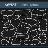 Burbujas bosquejadas del discurso con el movimiento Editable Foto de archivo libre de regalías