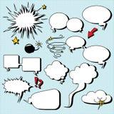 Burbujas cómicas del discurso. Fotografía de archivo
