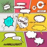 Burbujas cómicas del discurso Fotografía de archivo