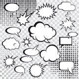 Burbujas cómicas del discurso ilustración del vector