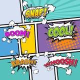 Burbujas cómicas del discurso. ejemplo del vector. Fotografía de archivo libre de regalías