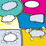 Burbujas cómicas del discurso, ejemplo del vector Imagen de archivo