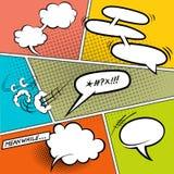 Burbujas cómicas retras del discurso Imagenes de archivo