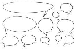 Burbujas cómicas Set01 del vector del texto del discurso Foto de archivo