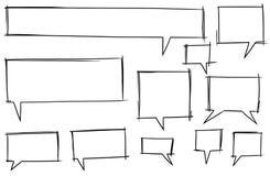 Burbujas cómicas Set06 del vector del texto del discurso Foto de archivo libre de regalías