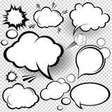 Burbujas cómicas del discurso Imagen de archivo libre de regalías