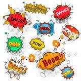 Burbujas cómicas del discurso Imágenes de archivo libres de regalías