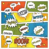 Burbujas cómicas emocionales y sanas fijadas Fotografía de archivo libre de regalías
