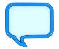 burbujas coloreadas 3d del discurso Imagen de archivo libre de regalías