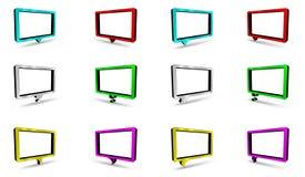 Burbujas coloreadas del diálogo Fotos de archivo libres de regalías