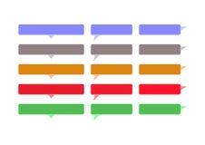 Burbujas coloreadas discurso Imagen de archivo