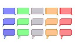 Burbujas coloreadas discurso anormal Fotos de archivo libres de regalías