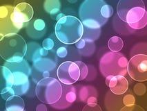 Burbujas coloridas abstractas Imagen de archivo libre de regalías