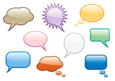 Burbujas coloridas de la charla Foto de archivo libre de regalías