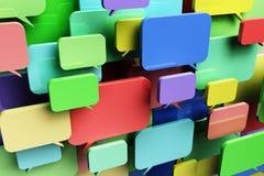 Burbujas coloridas del discurso Foto de archivo libre de regalías