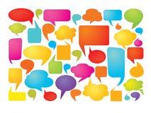 Burbujas coloridas del discurso Fotografía de archivo
