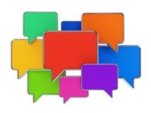 Burbujas coloridas del discurso Imagen de archivo libre de regalías