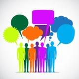 Burbujas coloridas del discurso de la gente Imagen de archivo libre de regalías
