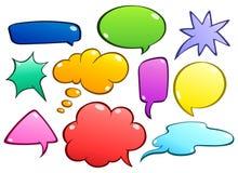 Burbujas coloridas del discurso fijadas