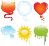 Burbujas coloridas del discurso y de la charla Fotos de archivo