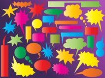 Burbujas coloridas del discurso y del pensamiento Imagenes de archivo