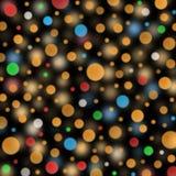 Burbujas coloridas en fondo oscuro Imagen de archivo libre de regalías