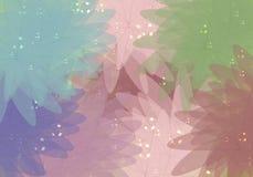Burbujas coloridas en la flor Imagen de archivo